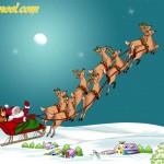 Père Noël qui va au travail