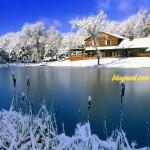 Paysage hivernal - Résolution: 1600×1200 pixels