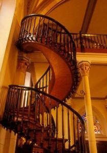 L'escalier de la Chapelle Loretto