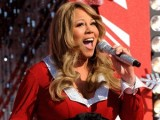 Pregnant Mariah Carey gets into Christmas spirit at Disney World.
